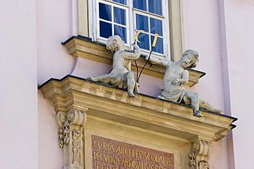 Detail of Primatial Palais in Bratislava, landmark and now town hall of Bratislava, Slovakia