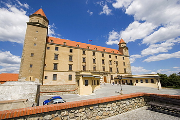 Pressburg, the castle palace seen from the Ehrenhof of the castle, Bratislava Slovakia