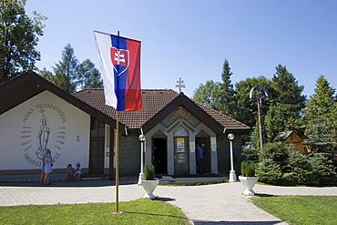 Slovensk? Betlehem Rajecka Lesna, building with the biggest wooden crib of Slovakia, Rajecka Lesna, Slovakia