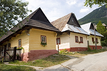 Vlkolinec, typical mountain village in the Velka Fatra mountains, UNESCO World Heritage Site, Slovakia