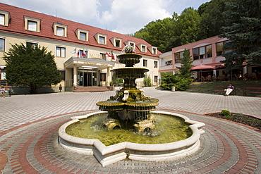 Spa hotel and fountain, Bojnice, Slovakia