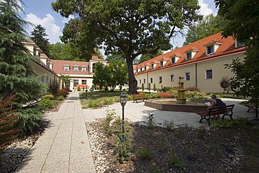 Garden at the spa hotel, Bojnice, Slovakia
