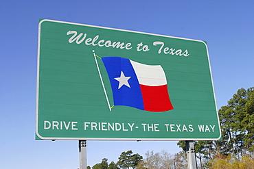 Sign welcome to Texas, USA