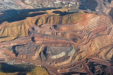 Argyle diamond mine, aerial view, Kimberley, Western Australia, WA, Australia