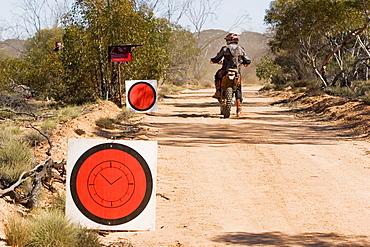 Australia Safari Rally 2007, start, Enduro motorcycle, outback, Western Australia, WA, Australia