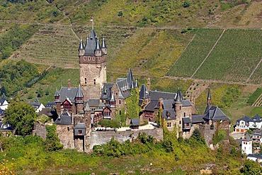 "The neo-gothic ""Reichsburg"" near Cochem, Rhineland-Palatinate, Germany"