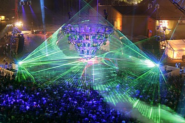 More than 50000 ravers are dancing at the techno-festival  near Kastellaun, Rheineland-Palatinate, Germany