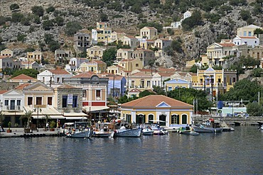 The port from the Isle of Symi near Rhodes, Greece, Europe