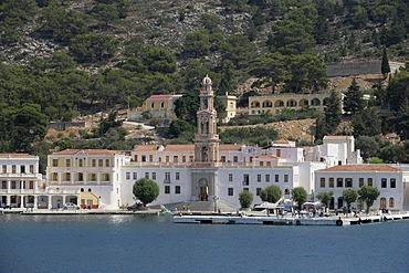 Monastery Panormitis on the Isle of Symi near Rhodes, Greece, Europe