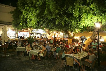 Tavern in the City of Rhodes, Greece, Europe
