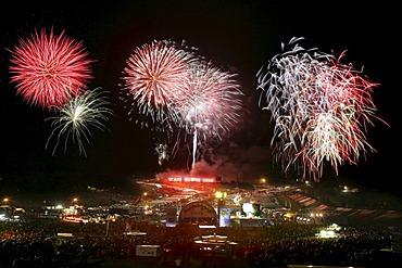 Fireworks at the Nuerburgring, Rhineland-Palatinate, Germany,