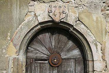 Wooden door in Elsass, France, Europe