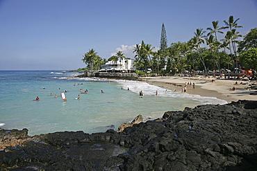 White Sands Beach in Kailua Kona, Hawaii USA