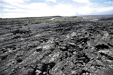 """Igneous rocks at the """"Chain of Craters Road"""" in the Volcano-National Park on Big Island, Hawaii, USA"""