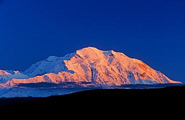 Mt. McKinley by dawn's first light, Denali National Park, Alaska, USA