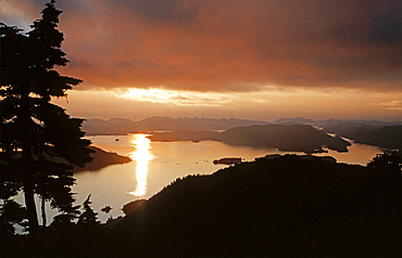 Sunset mood, southeastern Alaska, USA