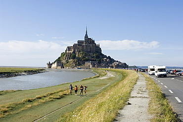 Mont St. Michel Island, Normandy, France, Europe