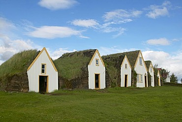 Houses with Grass roofs in the Glaumbaer outdoor museum, Iceland