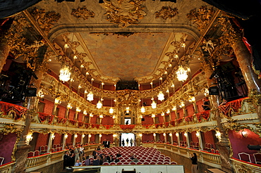 Auditorium of the Cuvillies Theater, Munich, Bavaria, Germany, Europe