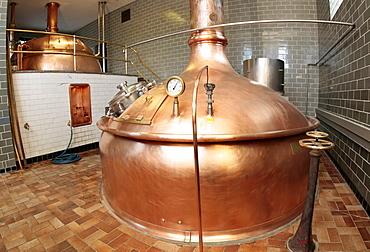 Brewer's copper in a brewery near Kronach, Bavaria, Germany, Europe