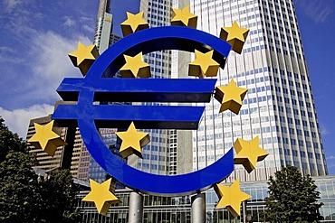 Euro-sculpture, Willy-Brandt-Platz , Frankfurt/Main, Hesse, Germany, Europe