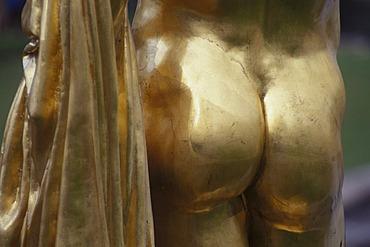 Peterhof golden buttock, detail of a statue, St.Petersburg, Russia