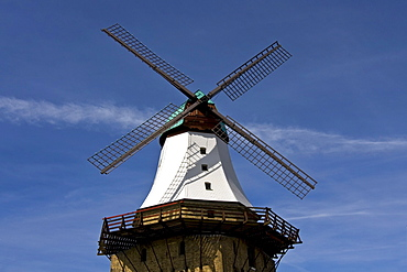 Old windmill, historic Dutch mill named Amanda, Kappeln an der Schrei, Schleswig-Holstein, Germany, Europe
