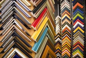 Choice of various decorated colourful picture frames
