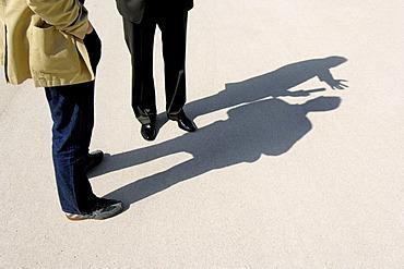 Men in conversation - talk, stand.