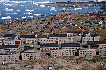 Modern apartment blocks, Ilulisaat, Greenland