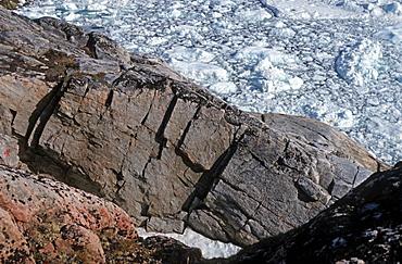Steep cliffs, Ilulisaat, Greenland, Danmark