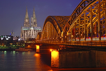Cologne Cathedral, Hohenzollern Bridge, Cologne, Germany