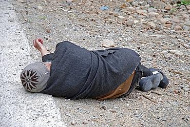 Mentally handicapped man, Anatolia, Turkey