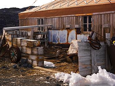 Shackleton's Hut at Cape Royds, exterior view, Ross Island, Antarctica