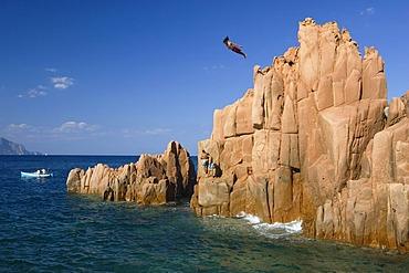Pink rock at Arbatax, Sardinia, Italy