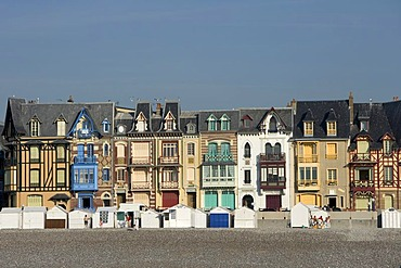 Picturesque houses at the seaside , Mers-les-Bains , Somme , Picardie , Frankreich , Europa