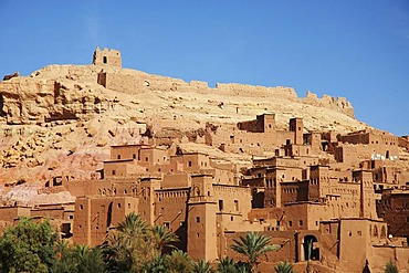 Traditional maroccan village in the Atlas Mountains , Ait Benhaddou , Marokko , Afrika
