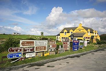 Signposts in Doolin , Clare , Munster , Ireland , Europe