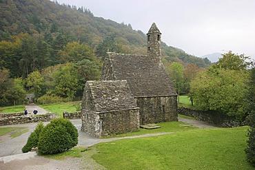 Glendalough Abbey at Wicklow Mountains , Ireland , Europe