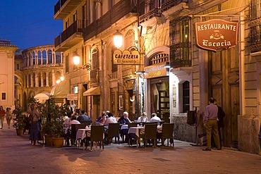 Lane near Plaza de la Virgen, restaurants, Valencia, Valencia, Spain