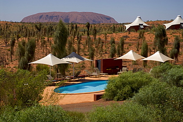 Ayers Rock Resort, Hotel Longitude 131, luxury camp, Yulara, Ayers Rock, Northern Territories, Australien, Australia