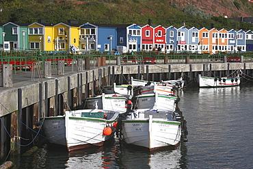 Port basin, Heligoland, Schleswig-Holstein, Germany, Europe