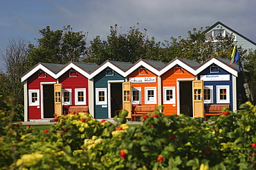 Fisher huts, museum, Heligoland, Schleswig-Holstein, Germany, Europe