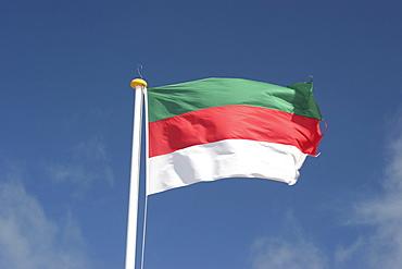 Flag of Heligoland, Heligoland, Schleswig-Holstein, Germany, Europe
