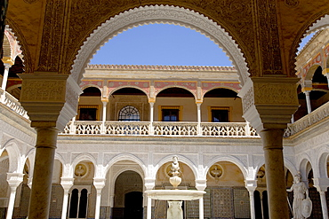 Casa de Pilatos, Casa Ducal de Medinaceli, courtyard, Patio, Palace House, Sevilla, Andalucia, Spain