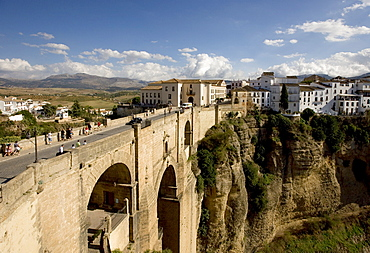 Bridge over in Tajo River in Ronda, Andalusia, Spain, Europe