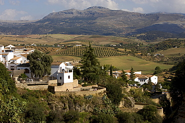 View onto the Sierra de Ronda, Ronda, Andalusia, Spain, Europe