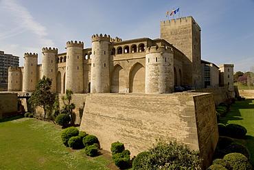 Palacio de Aljafería, Alfajería Palace, spanish-moorish architecture, host city of Expo 2008, Zaragoza, Aragon, Spain, Europe