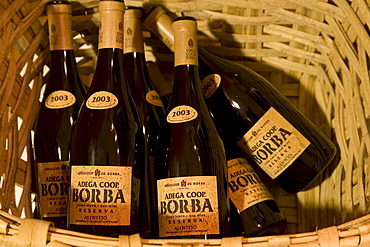 Borba cork label, red wine, Adega Cooperativa de Borba, Alentejo Region, Portugal, Europe