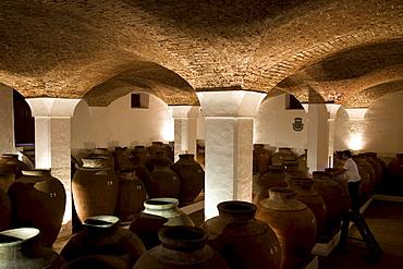Bodega Jose de Sousa, belonging to the wine empire of Jose Maria Fonseca, Reguengos de Monsaraz, Alentejo, Portugal, Europe